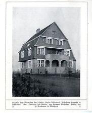 Architekt Karl Caesar Berlin Zehlendorf Wohnhaus Ruprecht in Zehlendorf v. 1907