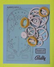 1976 Bally Aladdin's Castle pinball rubber ring kit