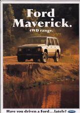 1990 FORD MAVERICK 4WD Australian 14p Brochure Plus Specs NISSAN Y60 PATROL