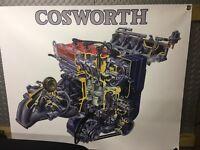 Cosworth Banner Ford Escort Sierra Sapphire RS Turbo 1000 Ml X 800 Ml