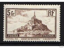 """FRANCE STAMP TIMBRE 1929-31 Y&T 260a """" MONT SAINT MICHEL 5F TYPE I """" NEUF xx TTB"""