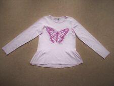 TU Girls Pink Sequin Butterfly LONG SLEEVE T-SHIRT 12years 152cm