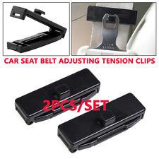 2PCS Car Seat Belt Adjusting Tension Clips 53mm Fasten Buckle Locking Stopper