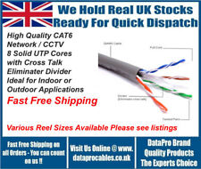 NEW GREY SUPER HIGH GRADE ROLL OF 305M CAT6 ETHERNET NETWORK CABLE DUCT GRADE