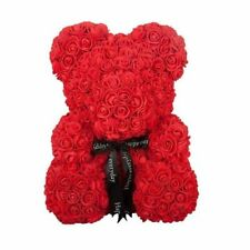 Bear Of Rose Artificial Rose Handmade Rose Flower Bear Toy Wedding Decor Girls