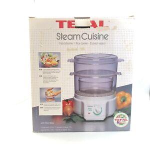 NWOT Tefal Food Steamer Rice Cooker 2x 2.9ltr Bowls Cuisine Kitchenware 17081 CP
