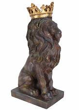 Löwenstatue Gartenfigur Löwenfigur Gartenlöwe Löwe Gartendeko Tierfigur Parkdeko