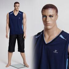 Realistic Male Adult Full Body Fiberglass Fleshtone Mannequin With Molded Hair