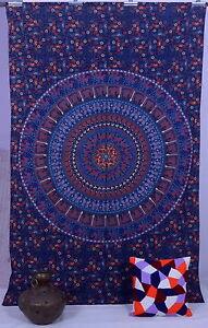 Double Indien Éléphant Mandala Tapisserie Tenture Murale Plage Drap Couverture D