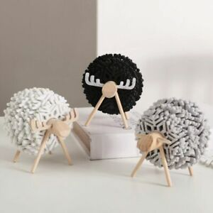 Placemats Anti Slip Sheep Shape Cup Pads Cup Mat Drink Coasters Felt Coaster