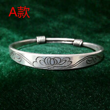 flower Miao silver bracelet 1piece National wind classical Chinese hand-carved