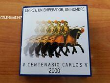 CARTERITA  ESPAÑA SPAIN SPANIEN 2000 - 2000 PTAS CARLOS V - QUINTO CENTENARIO