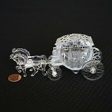 Royal Vintage Cinderella Horse and Carriage Coach Cake Topper Clear