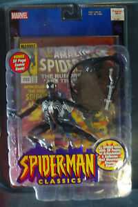 Toy Biz Marvel Spiderman Classics Black costume action figure
