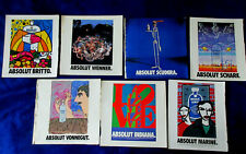 Lot 7 ABSOLUT VODKA print ads 1990s ARTISTS Robt Indiana Vonnegut Britto Scharf
