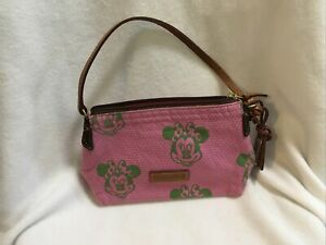 Dooney & Bourke Small Pink/Green Minnie Mouse Purse, Great Used Condition!!!