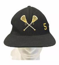 Lacrosse Hat Black #5 Wool Cap One Size Fits All SnapBack Lids