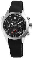 Lancaster Damenuhr Schwarz Edelstahl Silikon Chronograph Armbanduhr X-OLA0658SS