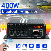 400W DC12V bluetooth HiFi Stereo Amplifier Music Receiver MP3 FM Radio Home Car