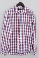 Men Napapijri Casual Shirt Slim Fit Check Cotton M MHA87