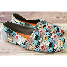 Bobs by Skechers Womens Flats Size 9.5 Cats Gray