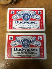 2- Budweiser Playing Cards Decks New Sealed In Plastic