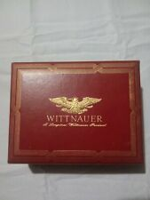 Vintage Red Leather Wittnauer Watch Box.                                   (J)