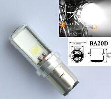 1x H6 BA20D M2S LED Motorcycle Headlight Blub DC/AC 6~80V 8W 1000LM COB Scooter