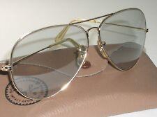 21bd26ed544 1970 s 58  14mm VINTAGE B L RAY-BAN GRAY GLASS PHOTOCHROMATIC AVIATOR  SUNGLASSES