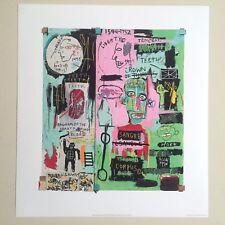 "JEAN MICHEL BASQUIAT ORIGINAL POP ART LITHOGRAPH PRINT "" IN ITALIAN "" 1983"