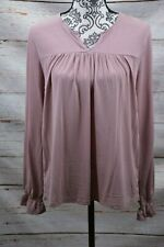 Lucky Brand Woman Purple Pin tuck Long Sleeves Peasant Top Size: Medium