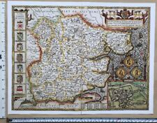 Map Of England Counties 1600s.John Speed Antique Reproduction Antique County Maps For Sale