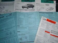 4 FICHES TECHNIQUE...BMW SERIE 5 E 39...MECANIQUE..BAREME DE TEMPS...CARROSSERIE