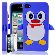 Blue Silicone/Gel/Rubber Cases & Covers for iPhone 4s