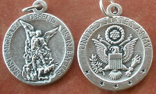 """Saint St. Michael Defend Us in Battle Medal + 1"""" + United States Army"""
