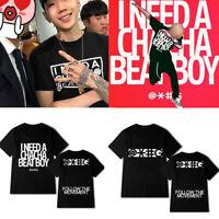 Kpop JAY PARK i need a chacha beat boy T-shirt Hip Hop Loose T-shirts 2019
