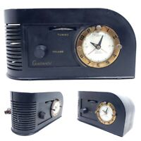 For Repair Vintage Continental 1600 Alarm Clock Tube Radio Art Deco Mid Century