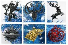Game of Thrones Christmas Ornaments 6 Piece Set Metal    Very Nice!!