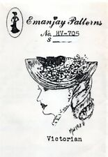 1:12 scale Emanjay Dollhouse Doll Hat pattern#HV705 Victorian Style Hat/uncut