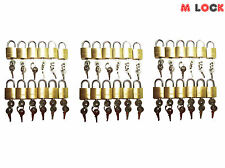 LOT OF 36 small brass padlock (20MM) Mini Tiny Lock Box Jewelry drawer KEY ALIKE