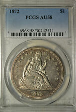 1872 Seated dollar, PCGS AU58