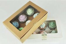 2/4/6 Holes Muffin Cupcake Boxes Package Box Kraft Paper Gifts Case 1/10PCS