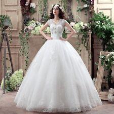 Cap Sleeve V-neck Ball Gown Wedding Dress 2018 Cheap Under $50 Plus Size Dresses