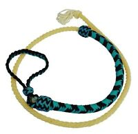 Showman TEAL 4 1/2' Braided Nylon Over & Under Whip w/ Lasso End! NEW HORSE TACK