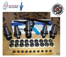 CAT 40 Techniks 4 Chucks ER16 + ER32 SETS+ Drill Chuck