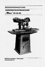 Bedienungsanleitung Fräserschleifmaschine Maco FR58RS S1002.23