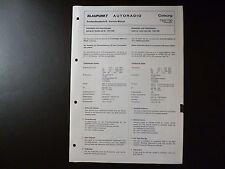Original Service Manual Blaupunkt Autoradio Coburg