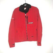 Spyder Mens Size Small S Jacket Red Ski Team Lasalle Bank Chest Zip Pocket