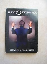 42922// BECOLYMPIA DOUBLE DVD SPECTACLE ROUGE + BLEU 1988 EN BE PAS DE FOURREAU