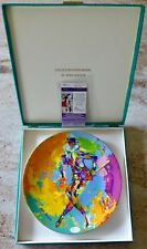 Leroy Neiman Hand Signed - Royal Doulton Harlequin Plate - Jsa Authenticed